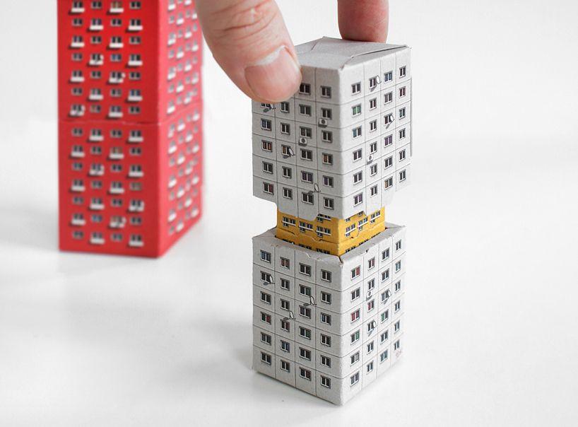 blokoshka modernist architectural matryoshka blocks by zupagrafika