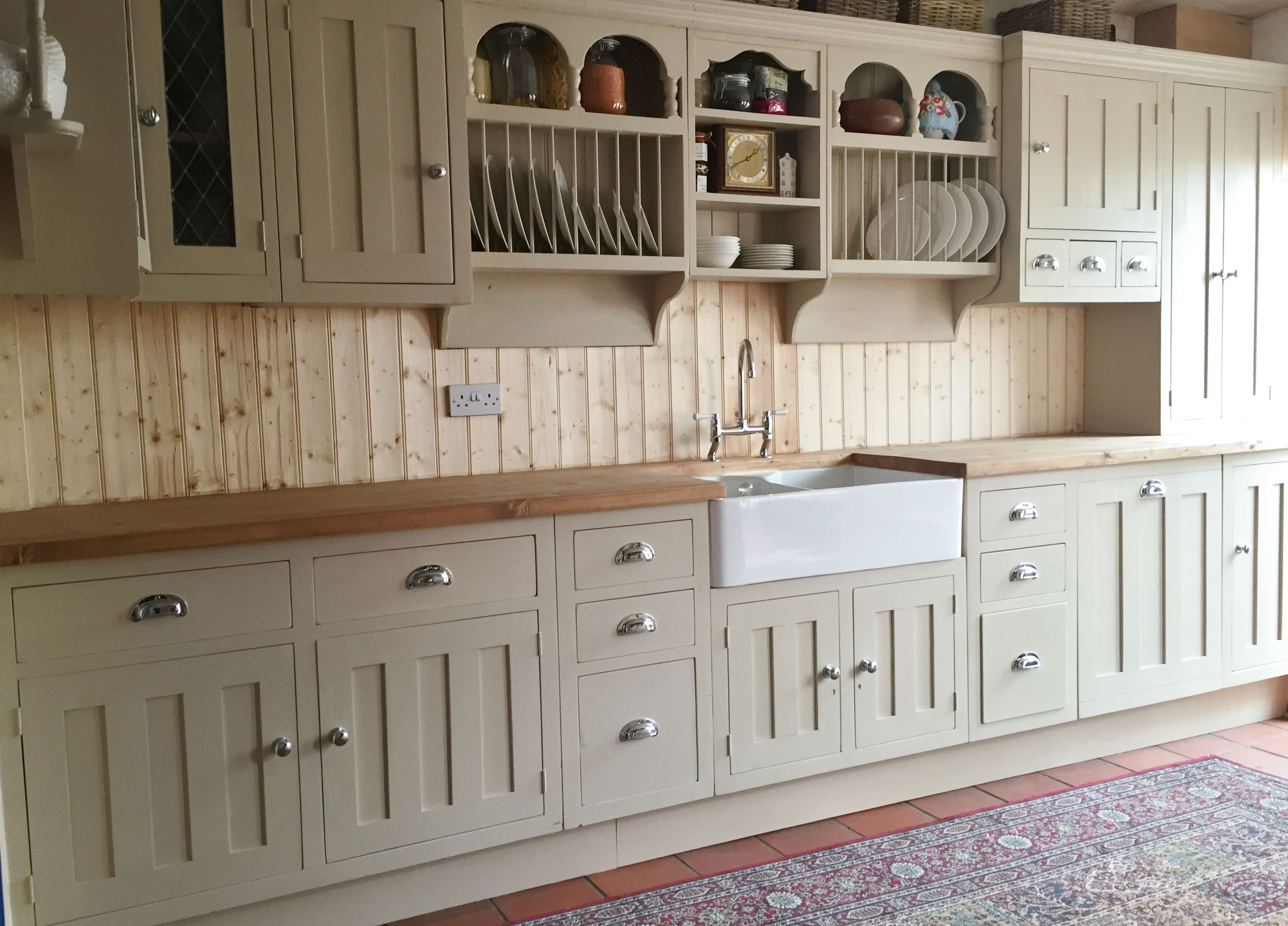 Best Custom Made Reclaimed Pine Painted Kitchen In Farrow 400 x 300