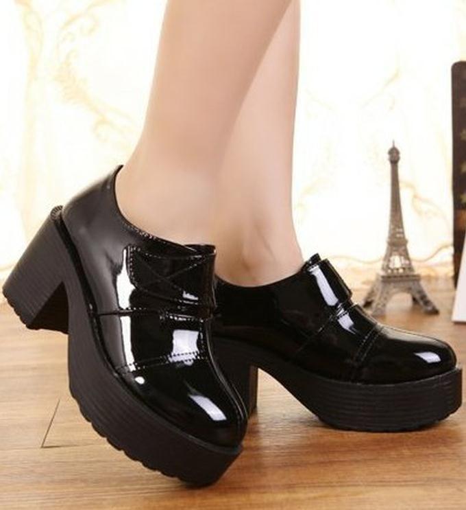 Womens Black Platform Heels  Tsaa Heel