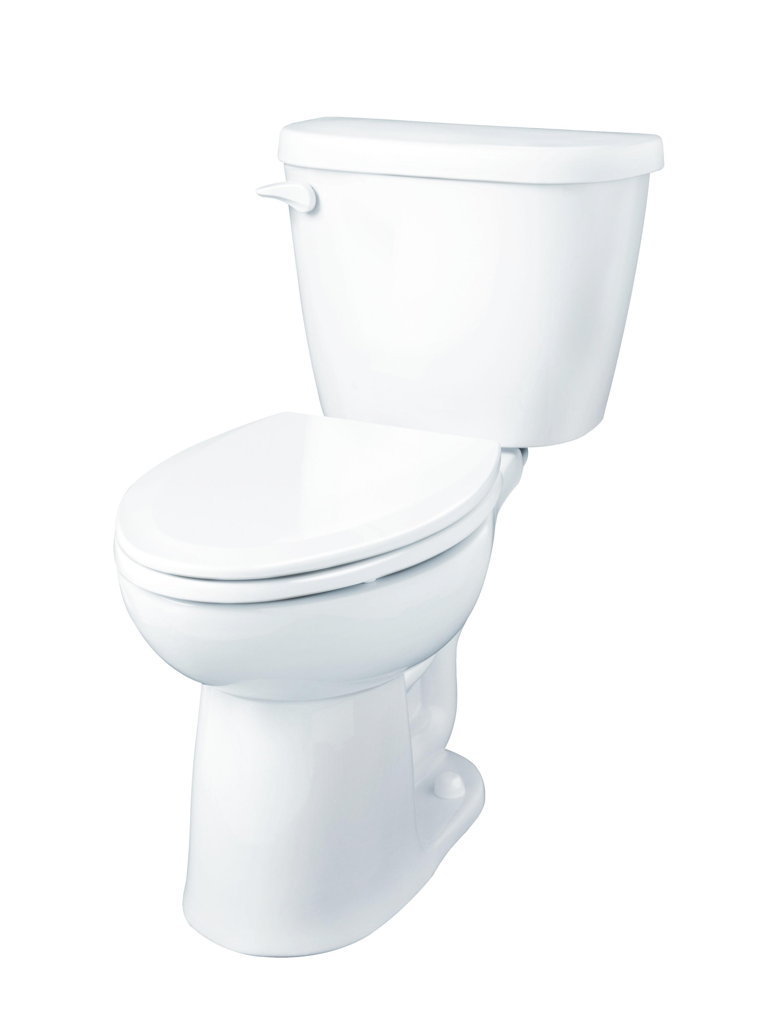Maxwell 1 28 Gpf 14 Rough In Two Piece Round Front Toilet Gerber Plumbing Toilet Bathroom Decor Plumbing Fixtures