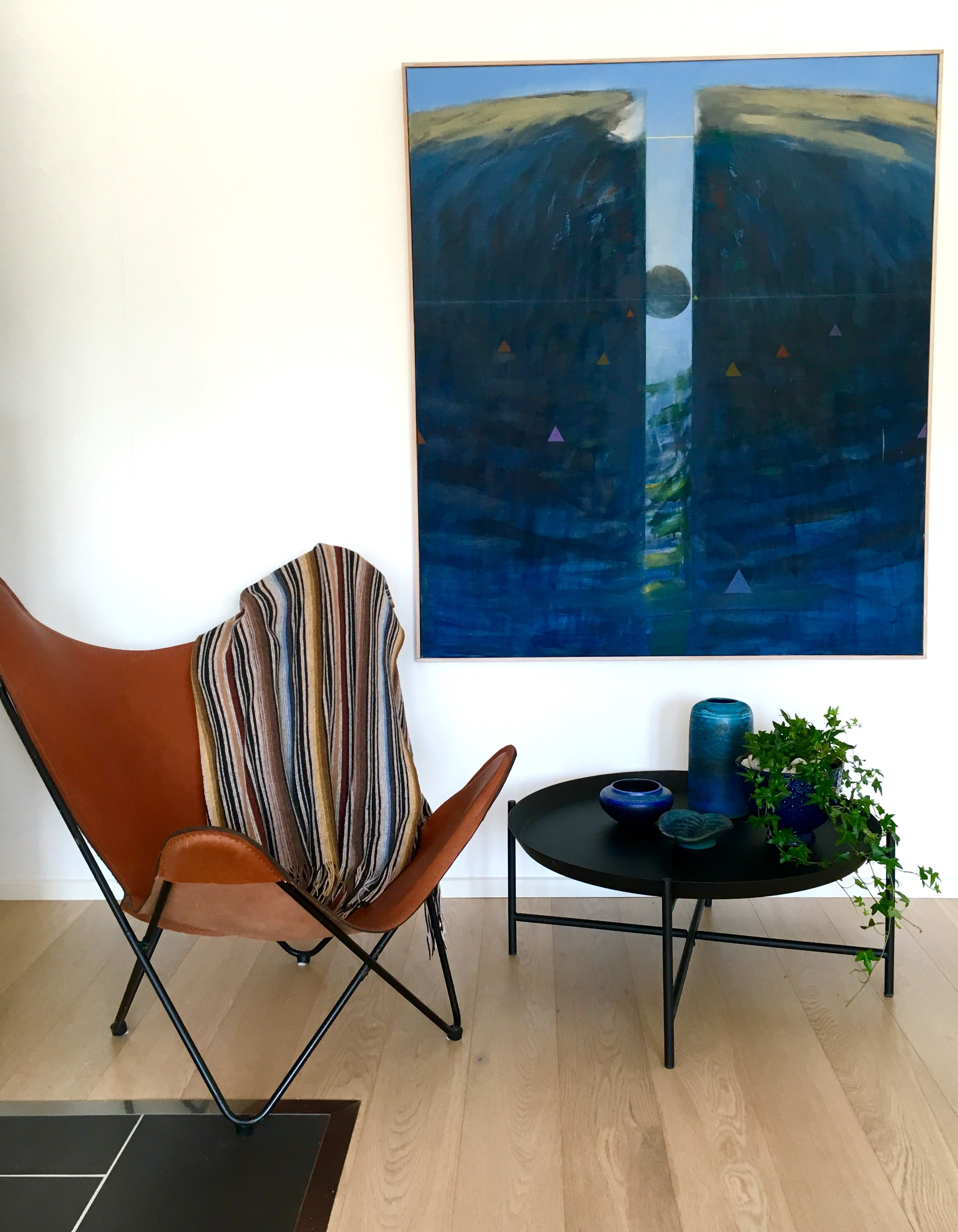 Butterfly Chair Ikea Covers Aliexpress Svartan Coffe Table And Painting By Kg Bratt