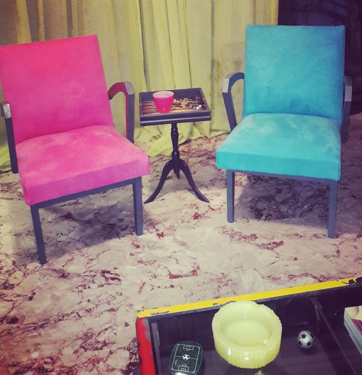 Danish transformed chairs by Piccolaketi
