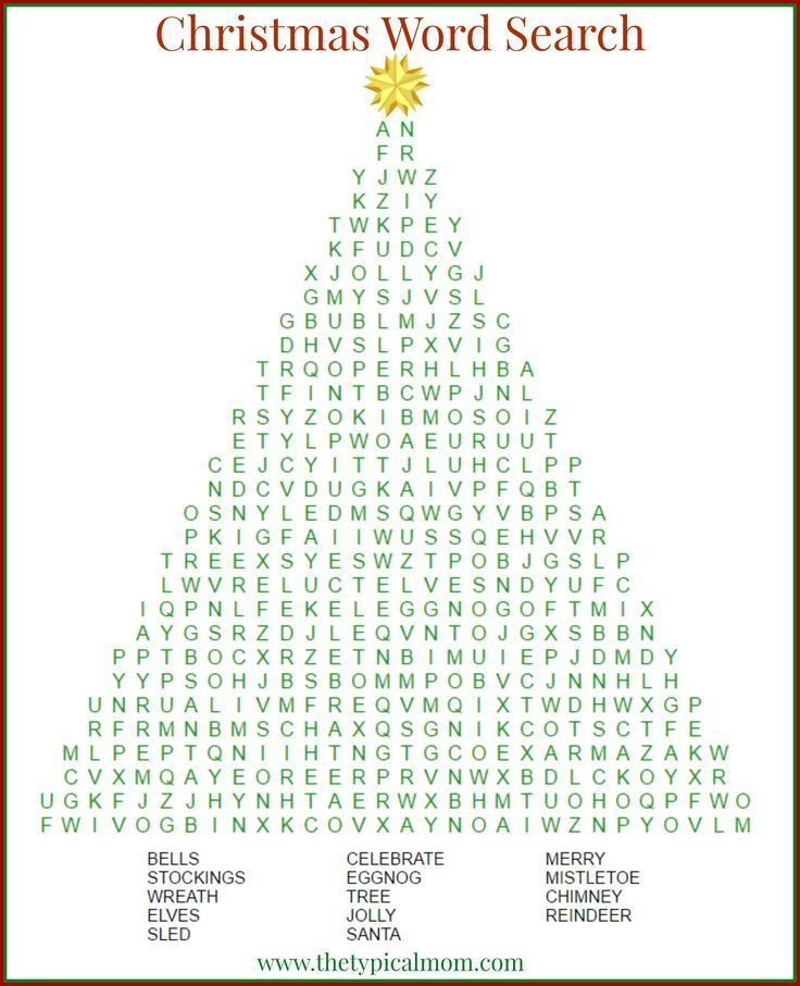 Christmas word search printable that\'s free to download and a great ...