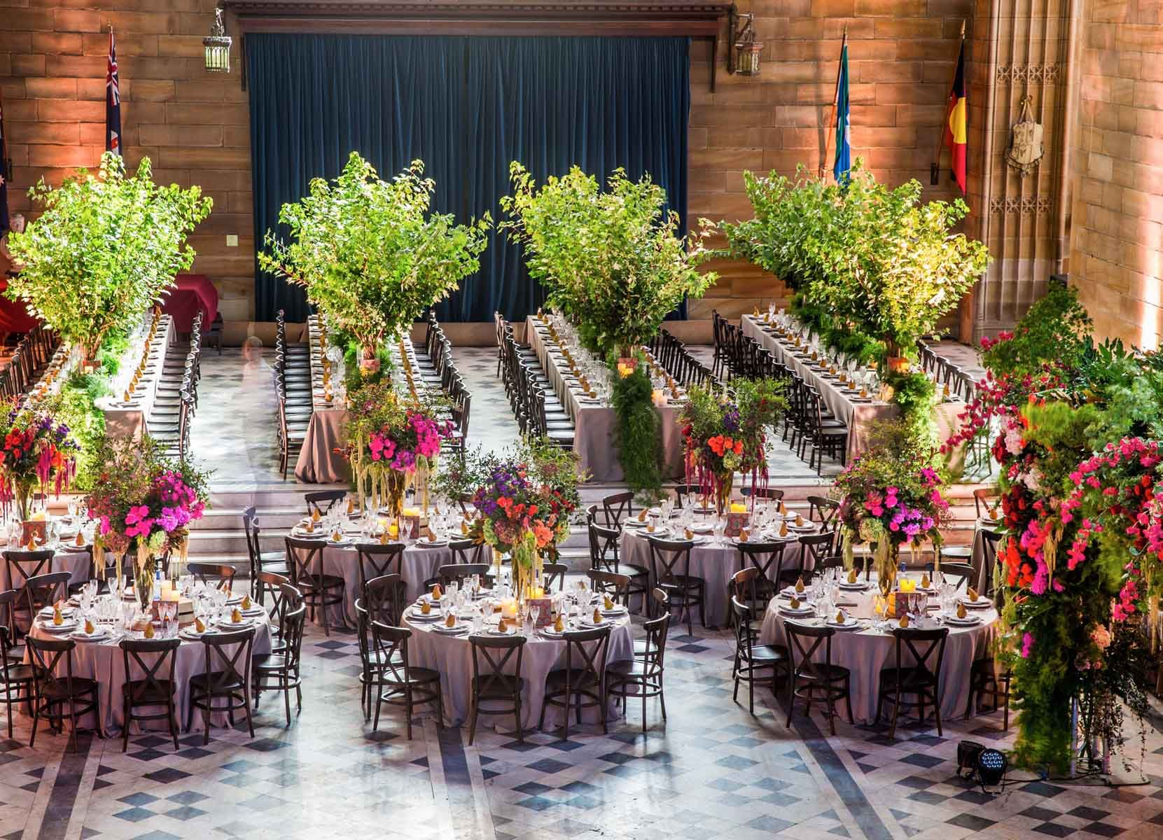 Jason James Design Was Commissioned To Create The And Style Direction For Wedding Of Sandy Rod At Iconic Sydney Universitys Great Hall