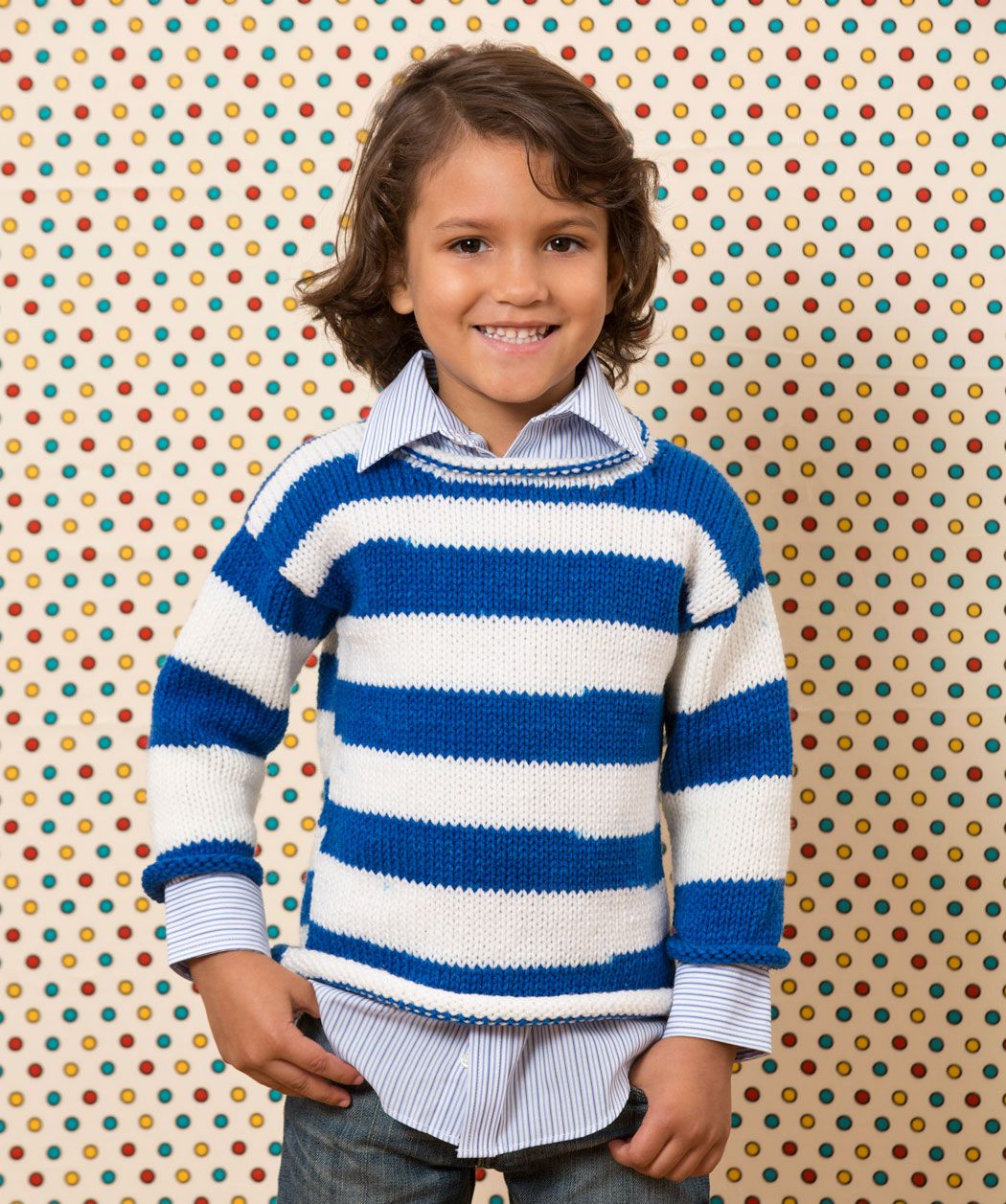 Game Day Knit Sweater Free Pattern from Red Heart Yarns | Knitting ...