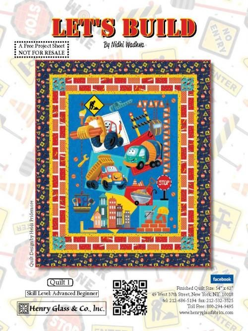 Let's Build Quilt 1 by | Free Projects | Henry Glass | Pinterest ... : quilting catalogs free - Adamdwight.com