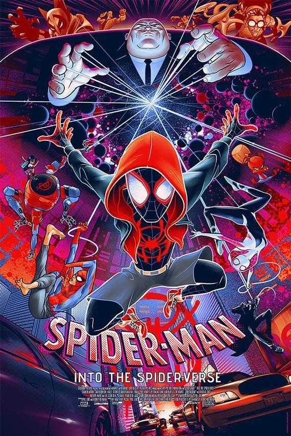 Spider Man Spider Verse Street Movie Poster