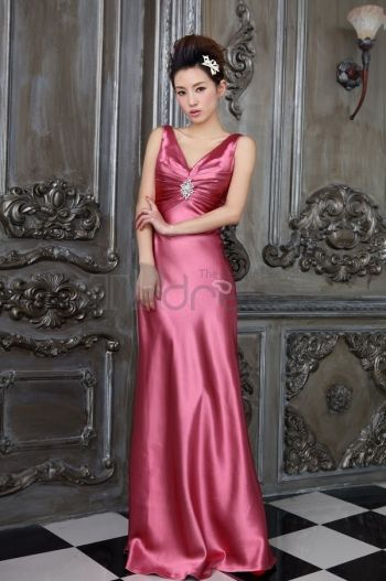 Pink the new V-neck elegant evening dresses  3495d69436e