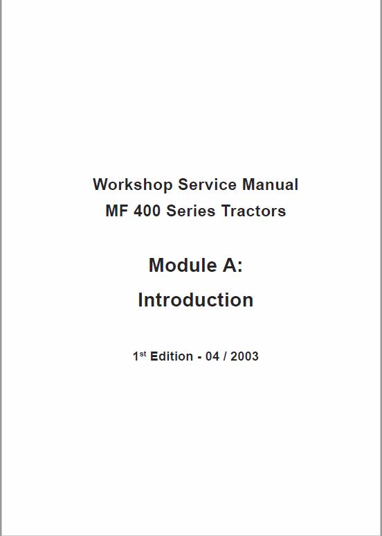 Massey Ferguson Mf 415 425 435 440 Tractor Service Manual Massey Ferguson Tractors Massey Ferguson Tractors