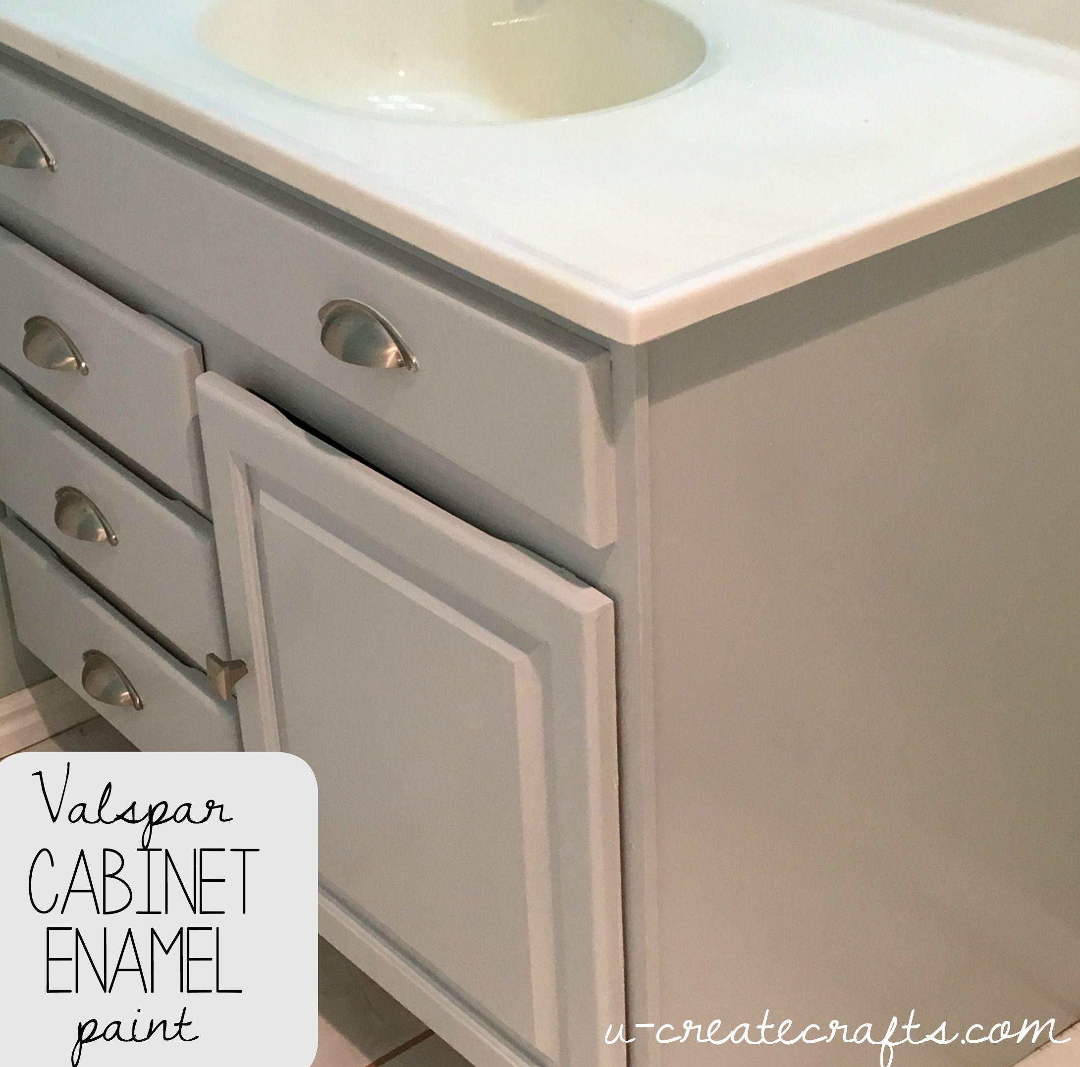 Valspar Cabinet Enamel Paint U Create Bathroom Cabinet Makeover Bathroom Cabinet Colors Valspar Cabinet Enamel