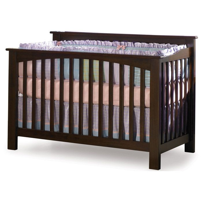 ? ? Columbia Convertible Antique Walnut Crib w/ Slatted Panels ? ? - Discovered at www.dcgstores.com...