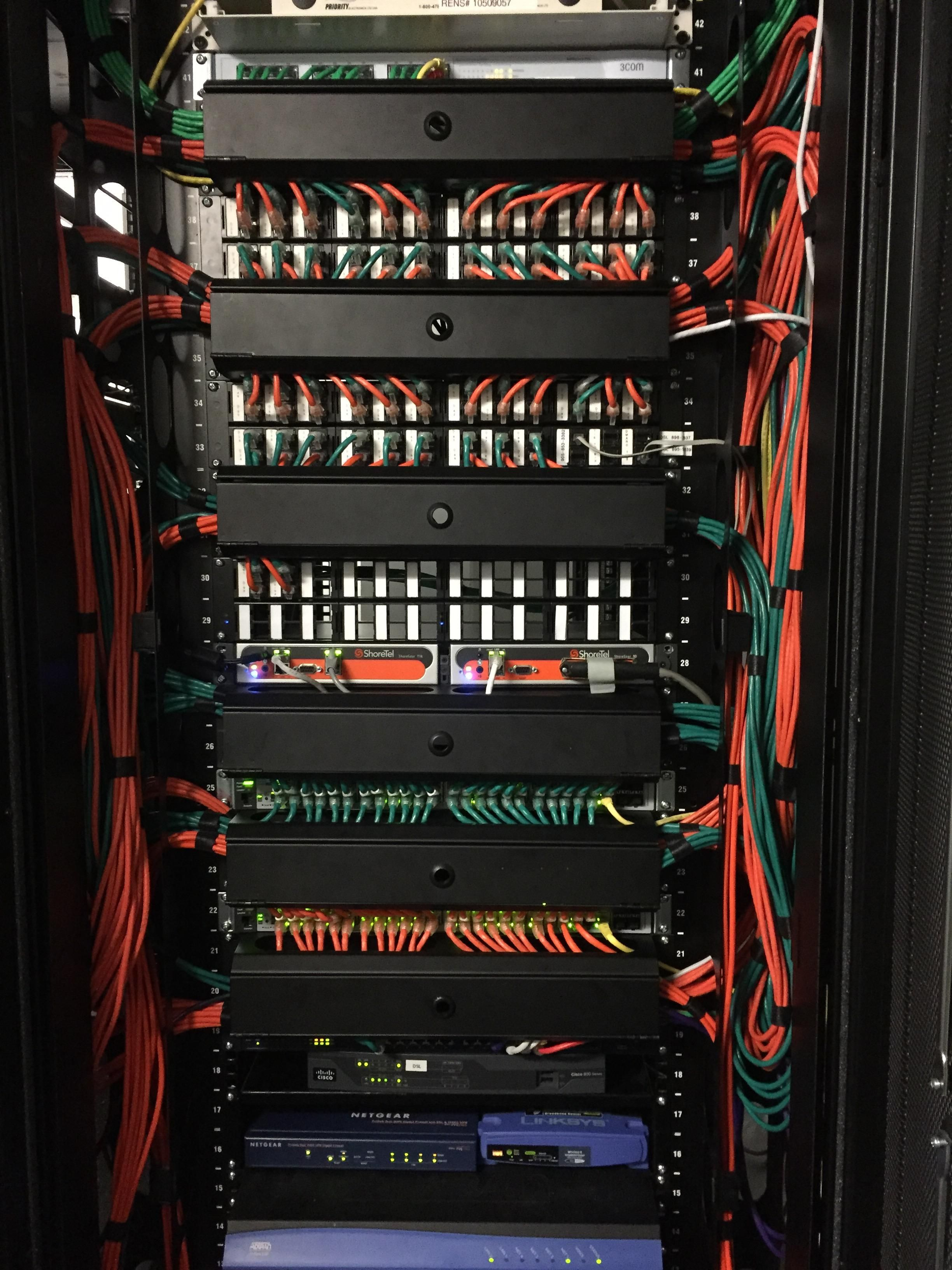 my first server rack cabling job | Business networking, Cloud ...