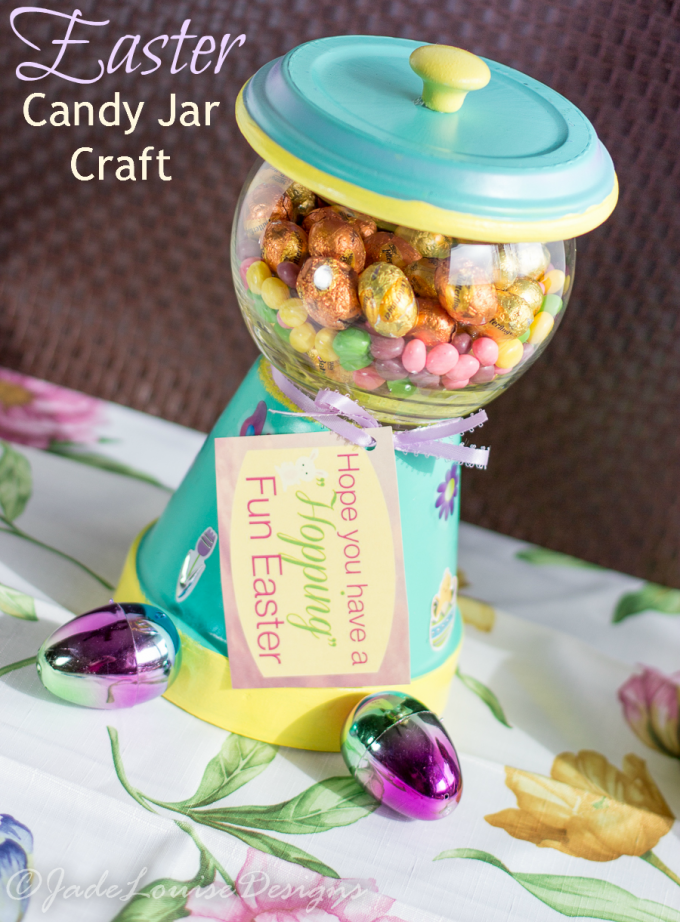 Candy Jar Decorations Best Easter Candy Jar Craft Nestle Filled Gumball Machine Candy