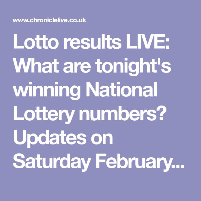 Lotto results LIVE: Tonight's winning National Lottery