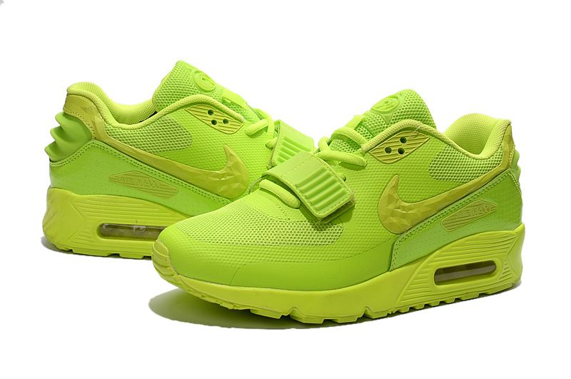 super cute e1e46 6dbb8 Nike MAX90 west magic buckle shoes lovers fluorescence devil