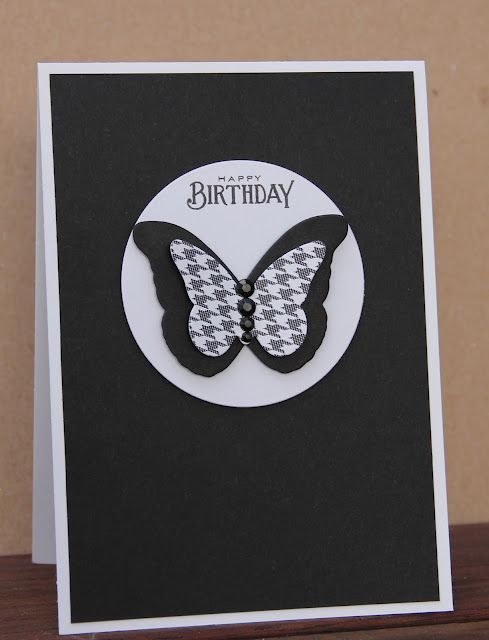 Card Black And White Simple Too Double Butterfly Very Elegant