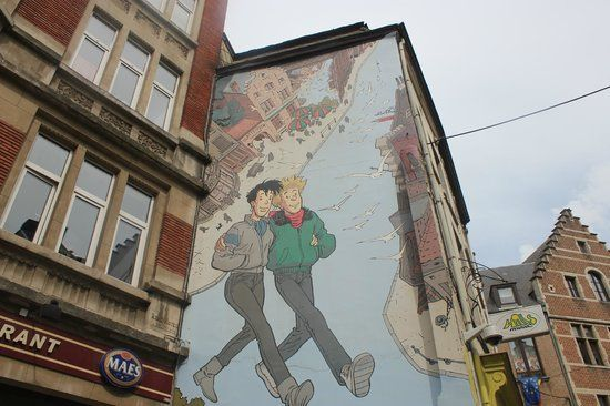 Tintin Takipte Picture Of Tintin Mural Painting Brussels