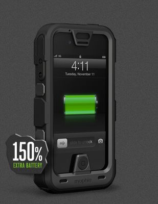 half off 21d6c cf843 mophie juice pack PRO® - Rugged travel battery case for iPhone 4 ...