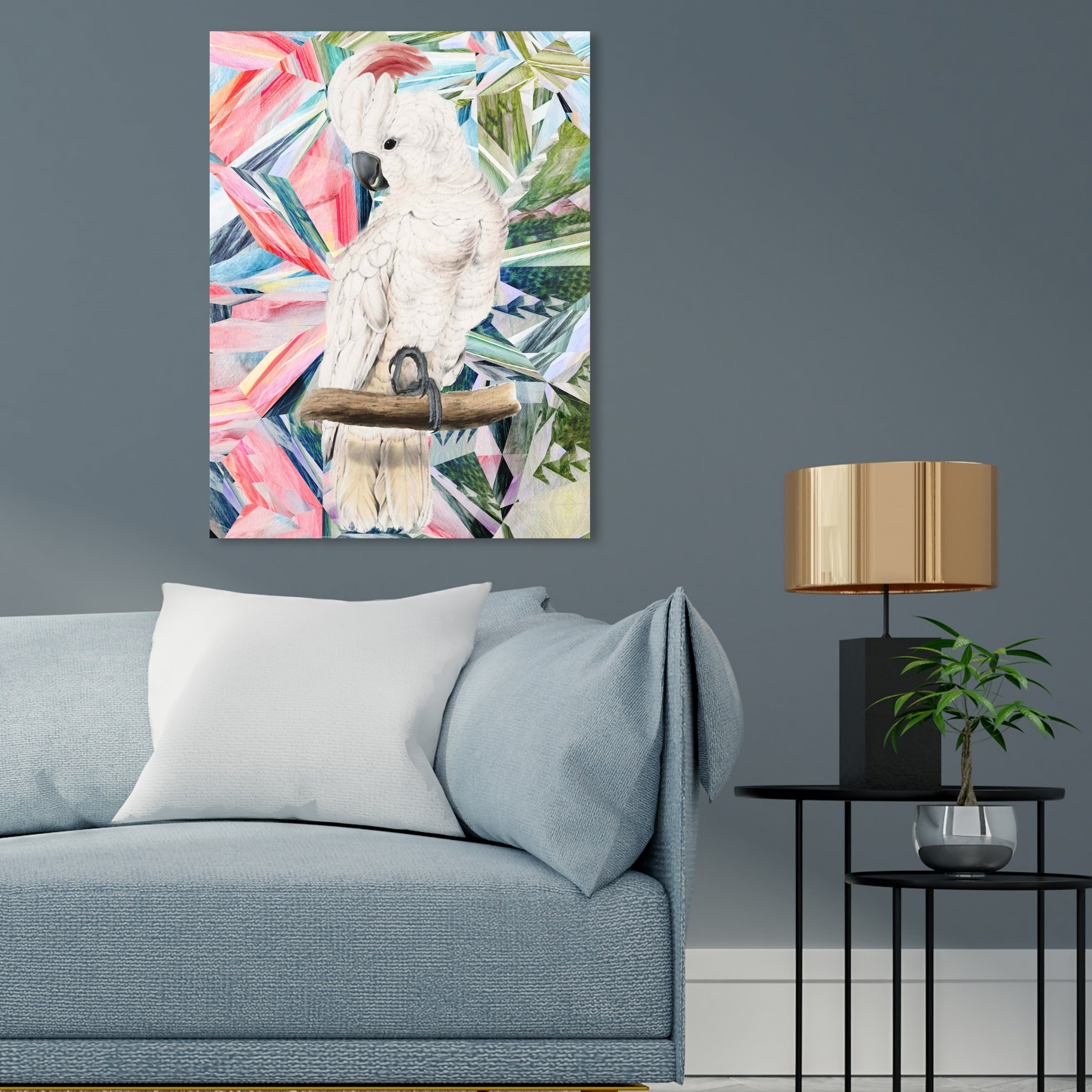 White Pink Canvas Wall Art