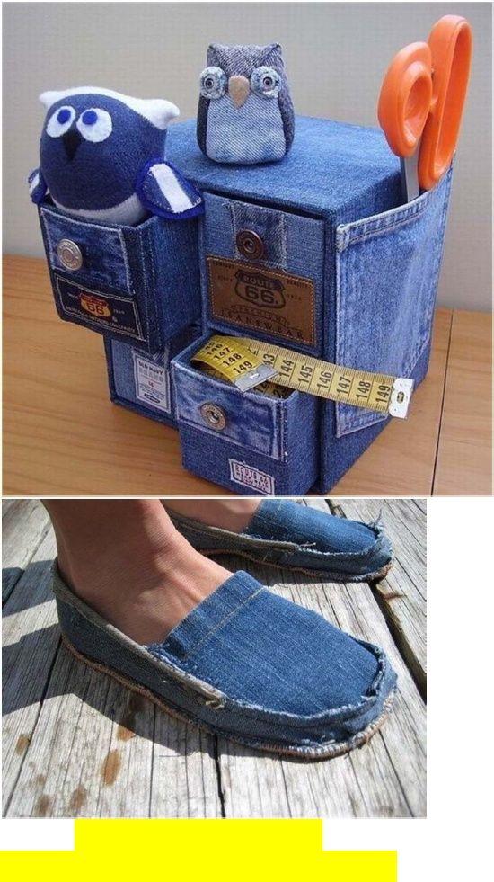des id es pour recycler un vieux bricolages vieux jeans jeans et recycler les jeans. Black Bedroom Furniture Sets. Home Design Ideas