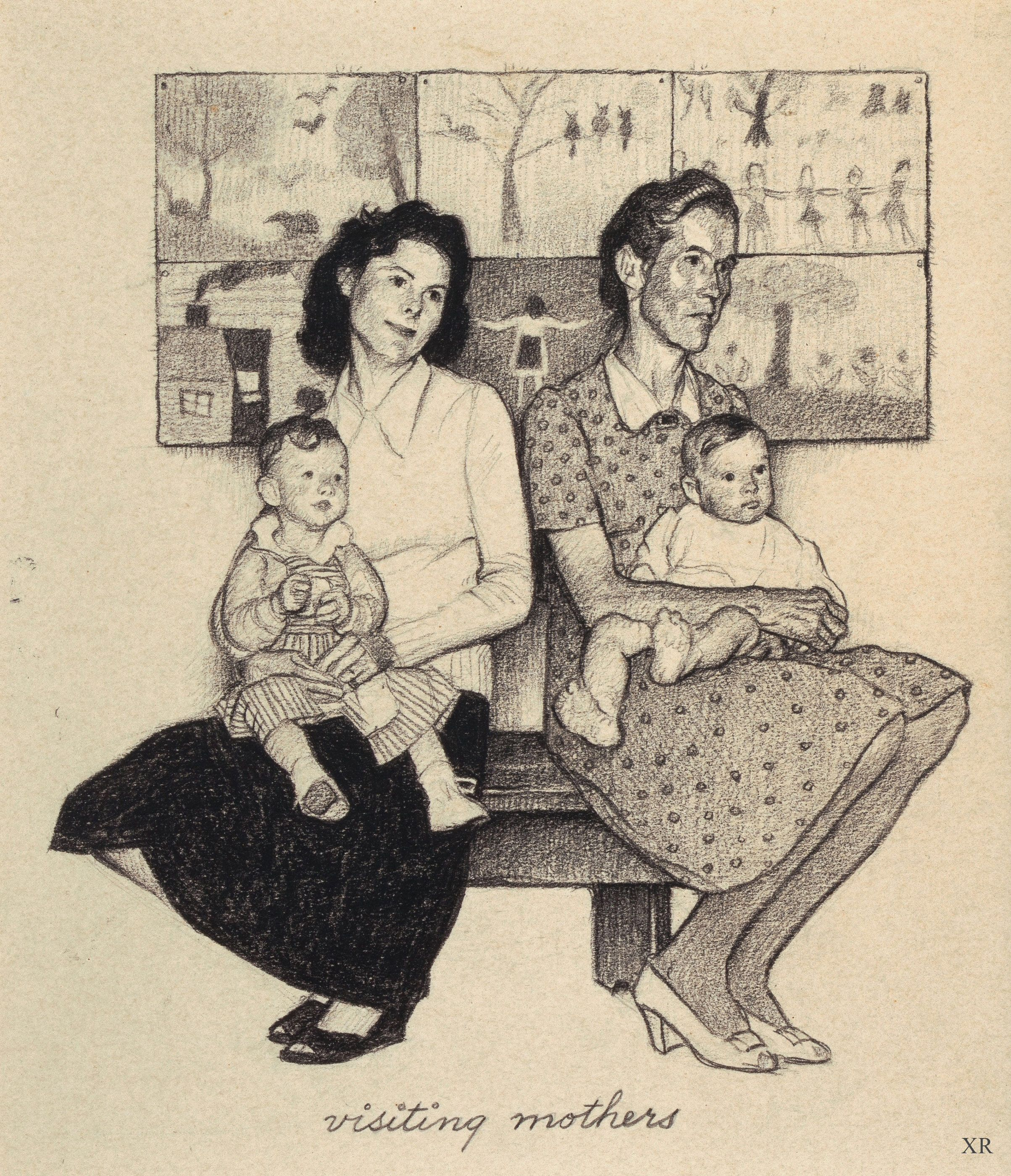 Visiting Mothers Country School Norman Rockwell 1947 Norman