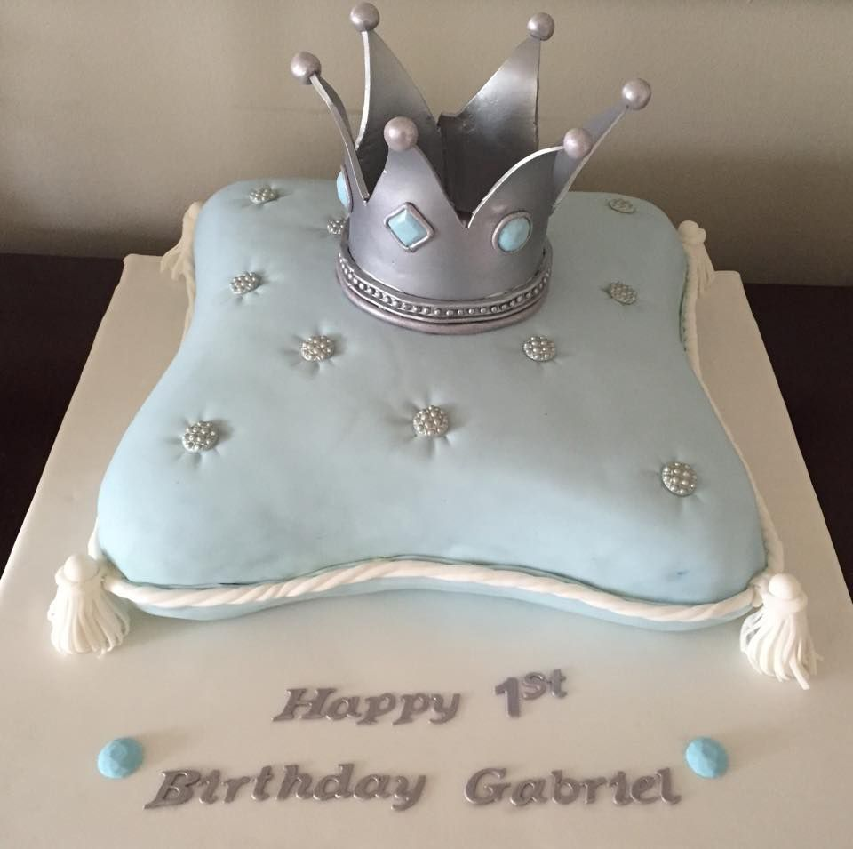 Pillow cake for a Little Prince Gabriels first birthday My Cakes