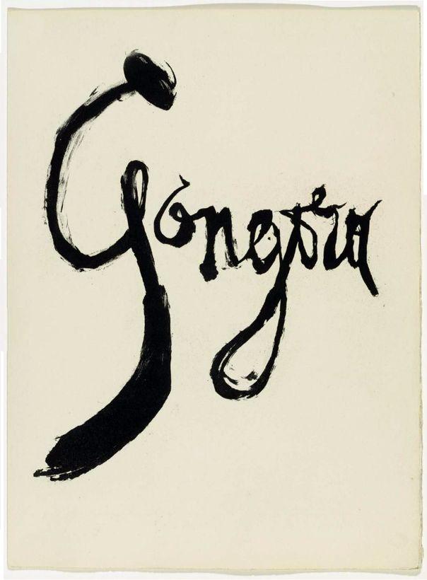 Vingt poëmes. Half-title. Artist: Pablo Picasso. Author: Luis de Góngora. Publisher: Les Grands Peintres Modernes et le Livre, Paris, 1948. Size: 38×28.2 cm