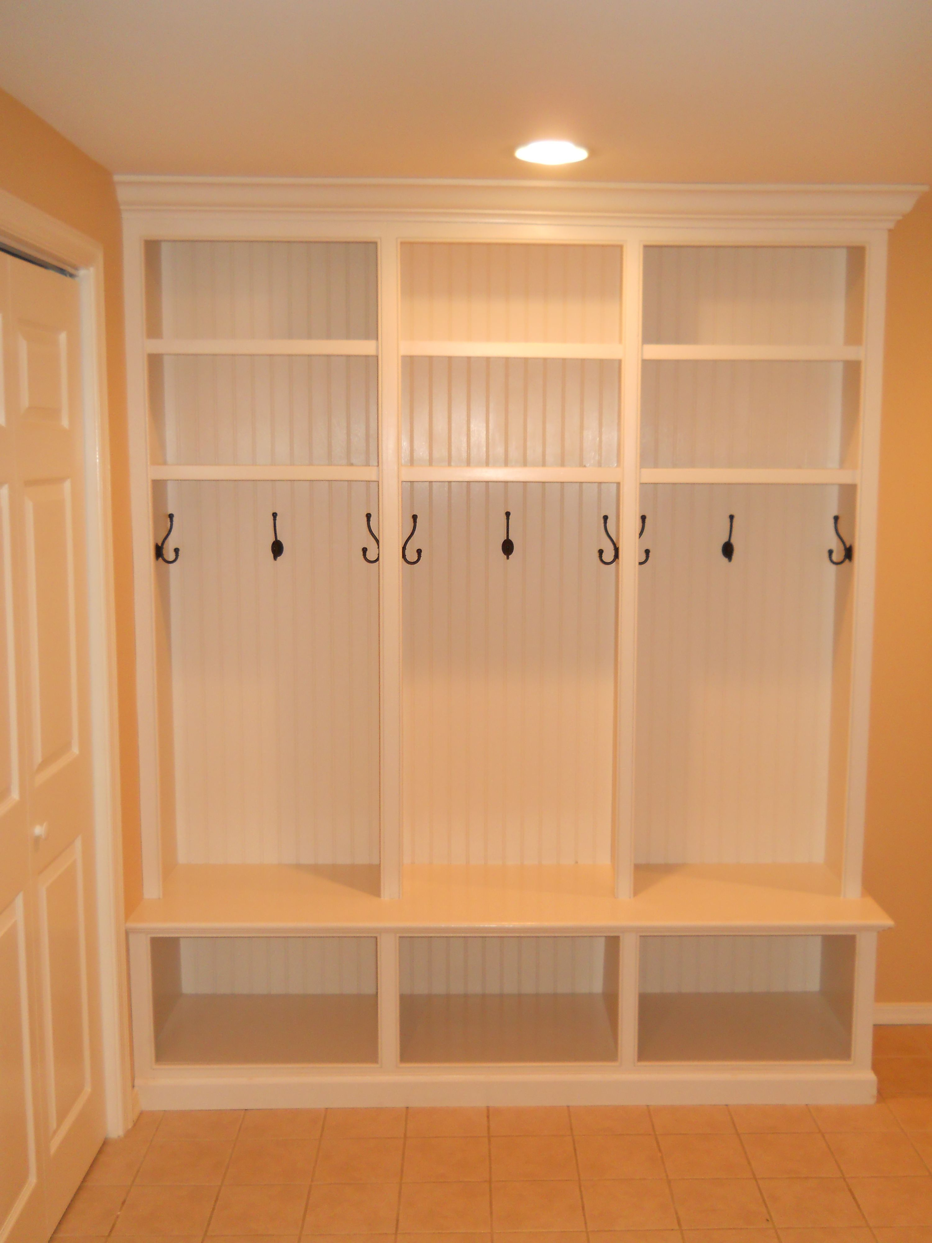 Custom Mud Room Lockers Thinking Slightly Smaller And
