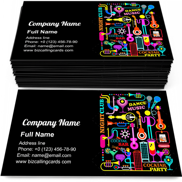 Cocktail Party Business Card Template Click For More Create A Calling Card Cocktail Party Online Card Template Business Card Template Visiting Card Design