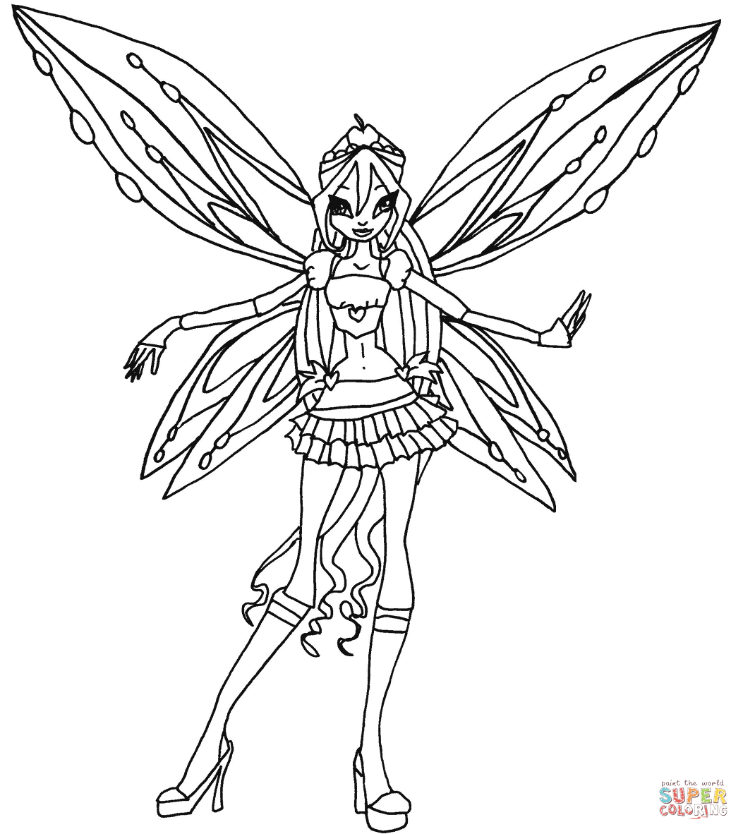 Winx Coloring Pages With Winx Club  Coloring books, Coloring