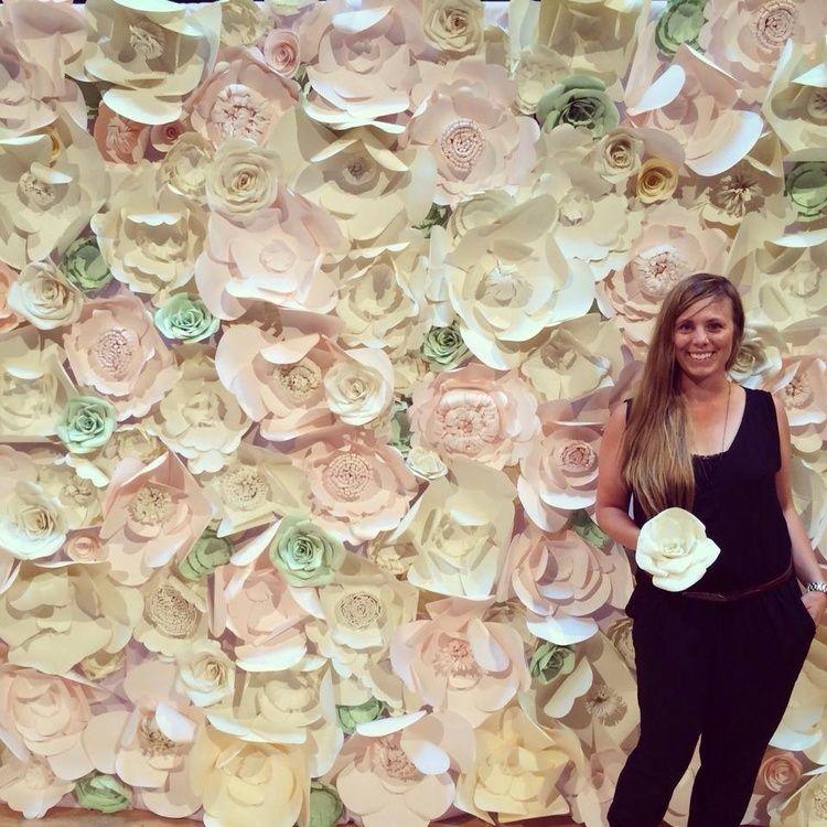 Edmonton Wedding Flowers: Paper Flower Back Drop Edmonton