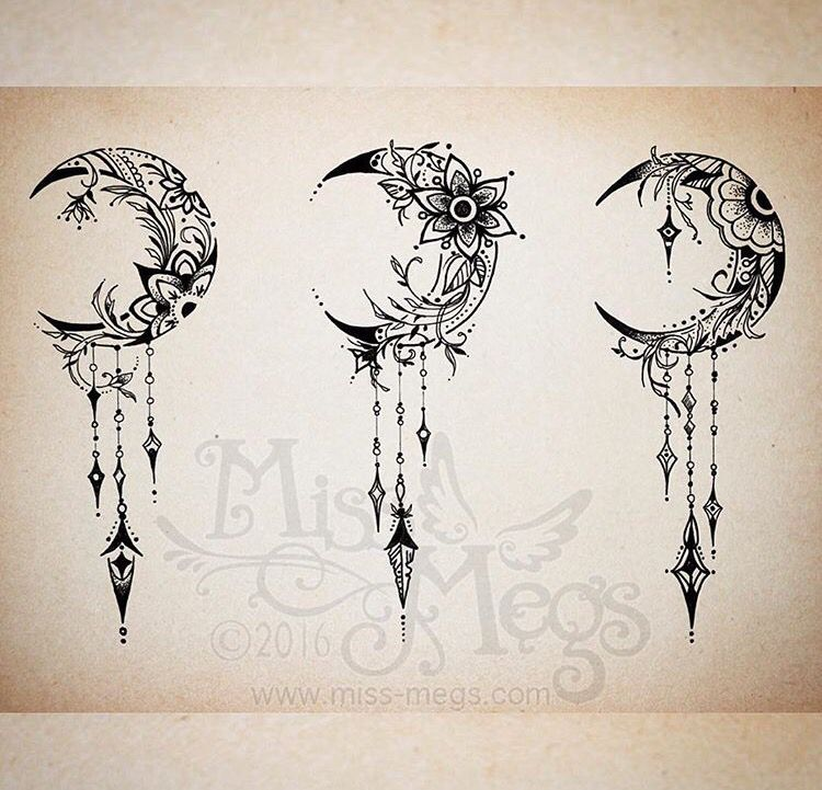 Image Result For Flower Moon Tattoo Meaning Moon Tattoo Designs Feather Tattoos Moon Tattoo
