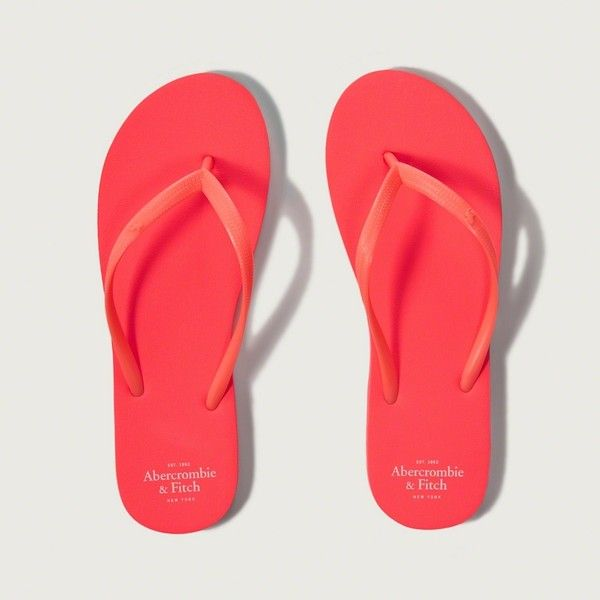 f313356d7f8b Abercrombie   Fitch Rubber Flip Flops ( 18) ❤ liked on Polyvore featuring  shoes