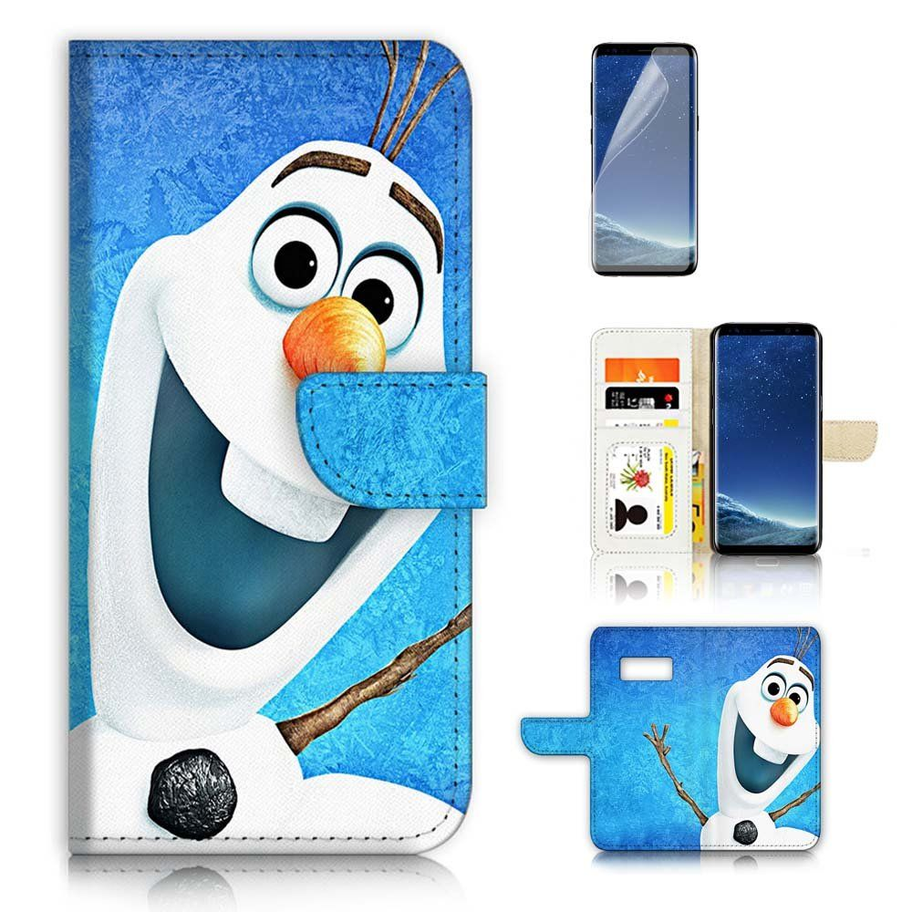 Samsung Galaxy S8 Flip Wallet Case Cover Screen Protector Bundle Goospery Iphone 8 Hybrid Dream Bumper Jet Black A20315 Frozen Olaf For Brand New Quality With Credit Card