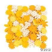 60 Monochromatic Yellow Paper Flowers