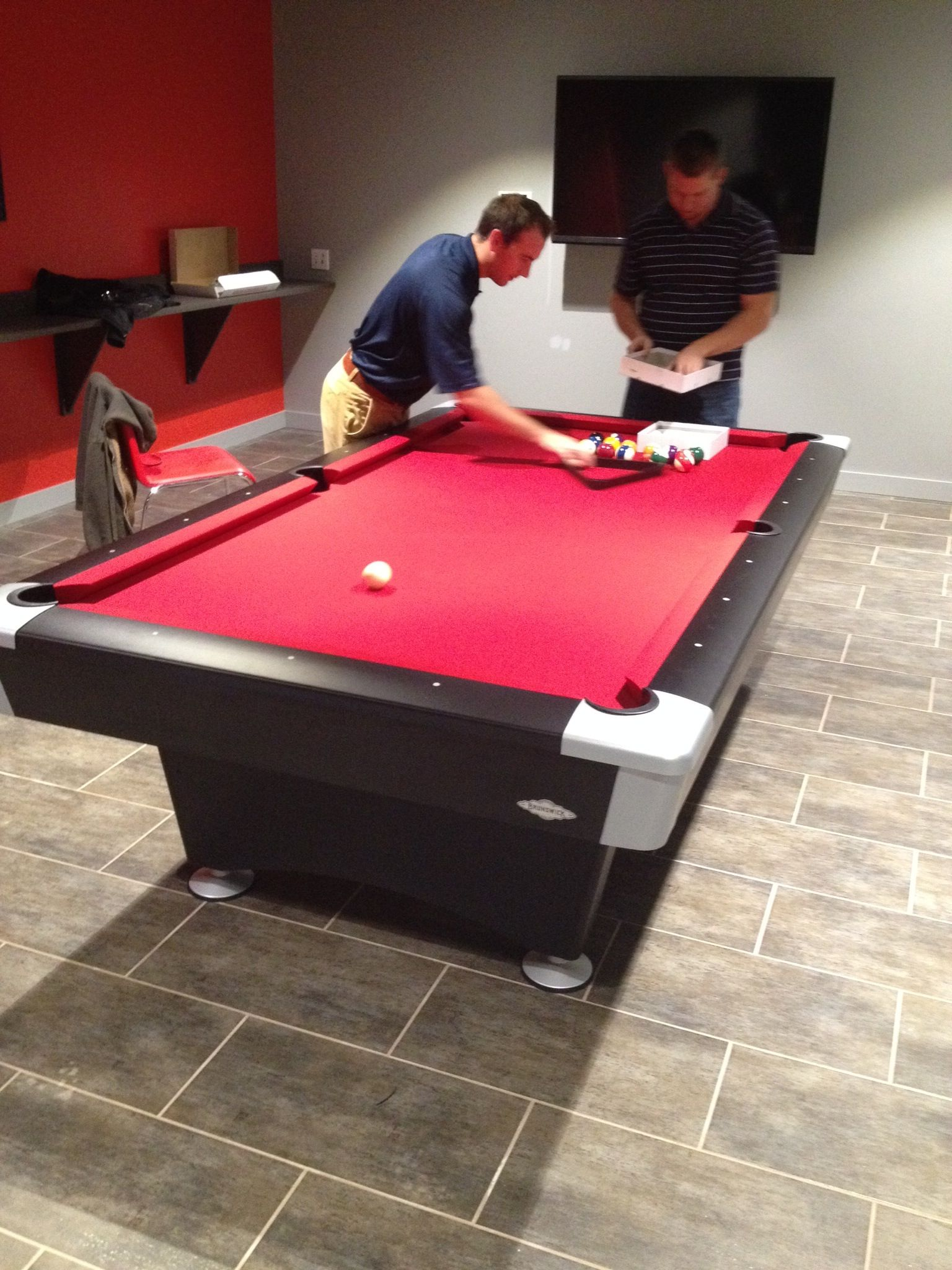 Pool Table · Wolves · Black Wolf, By Brunswick. Installed At XPO Logistics,  Charlotte, NC. Www