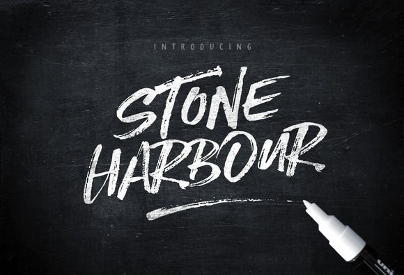 Stone Harbour Brush Font + Extras | Typography, Creative and Cool ...