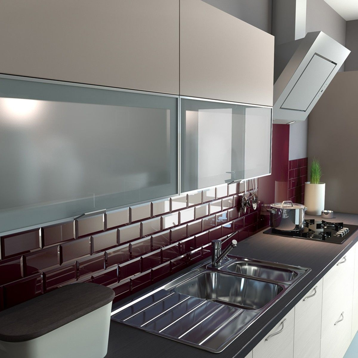 Best Looking For A Sleek And Modern Kitchen Try Burgundy Metro 400 x 300