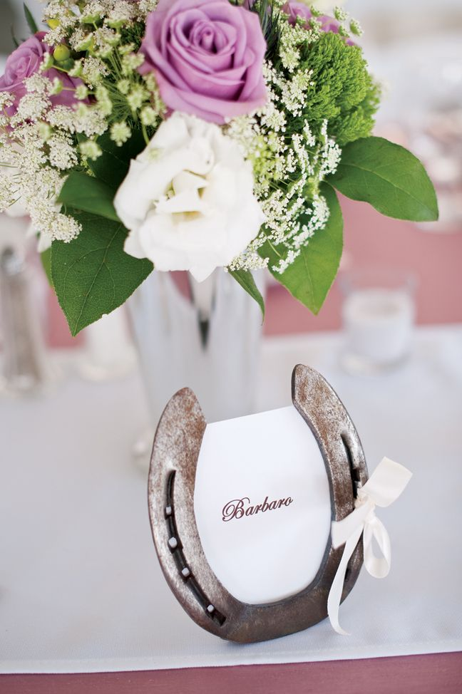 Horseshoe Wedding Table Decoration Photographed By Trevor Jenkins