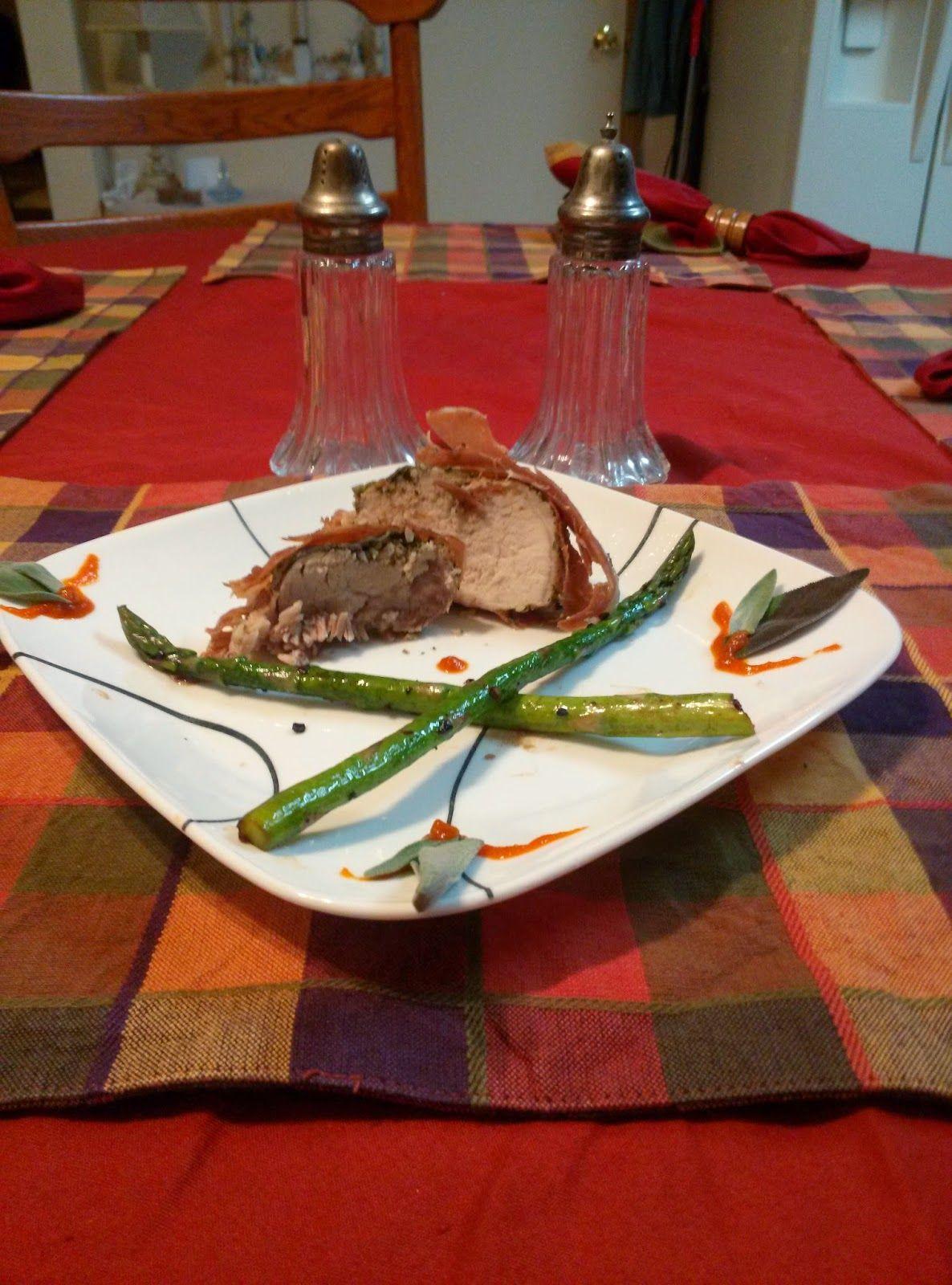 E.J.'s Fantastic Food Adventure!: Prosciutto Wrapped Tenderloin