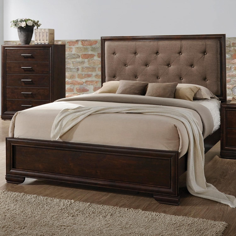 Home Source Bedroom Furniture Queen Bed/Dresser/Mirror/2 Nightstands ...