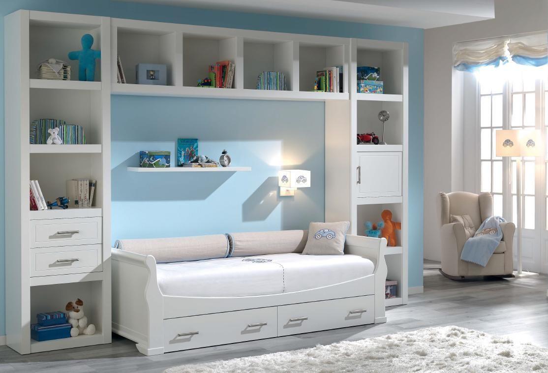Cama nido de 90 con cajones de arrastre habitaci n infantil pinterest - Cama 90 con cajones ...