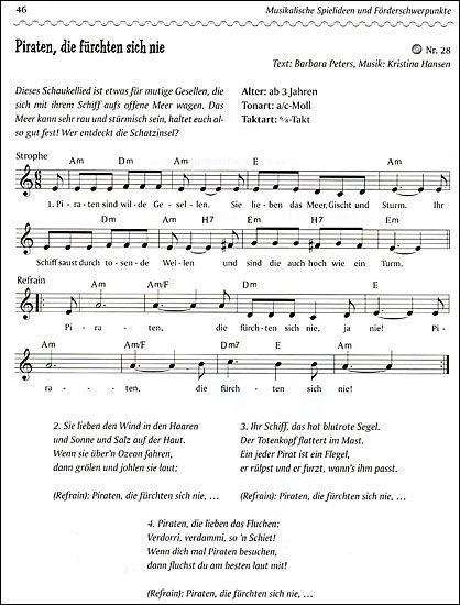 Piratenlied Piratenlieder Kinder Lied Lieder