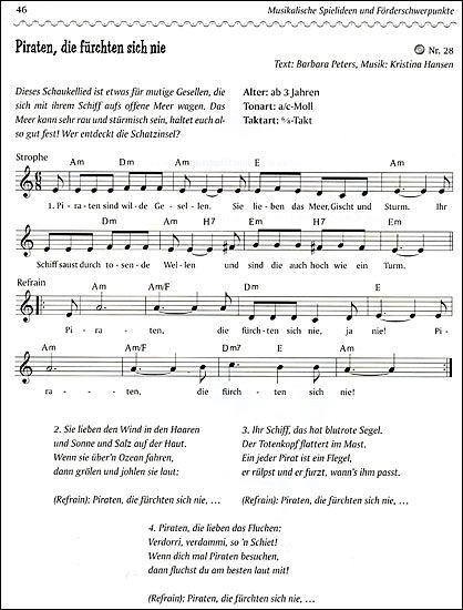 Piratenlied Piratenlieder Lieder Kinder Lied