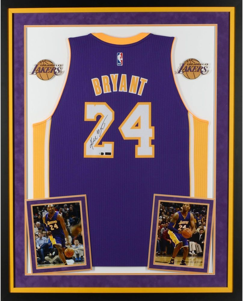 8f4738dbb Kobe Bryant Los Angeles Lakers Framed Signed Purple Swingman Jersey - Panini