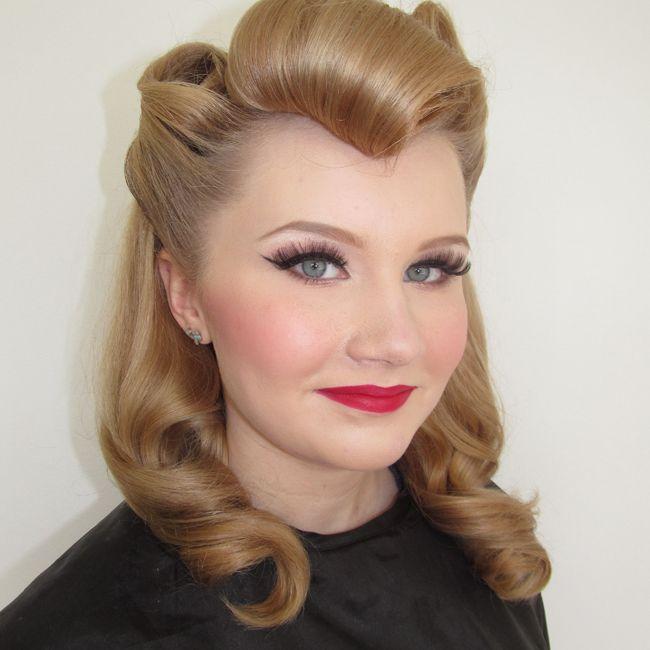 Vintage Glamour 8 Jpg 650 650 Vintage Hairstyles Retro Makeup Makeup Course