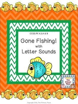 The Gone Fishing with Letter Sounds Center Game created by The Primary Place is ideal for Pre-K - 1st grade. There are 14 pages in this PDF file. You can make this a center or create enough for the class to do this activity at the same time in small groups.