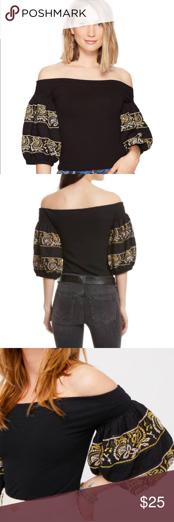 829961dda46da Free People Rock With It Off Shoulder Top Pre owned in good condition. No  stains
