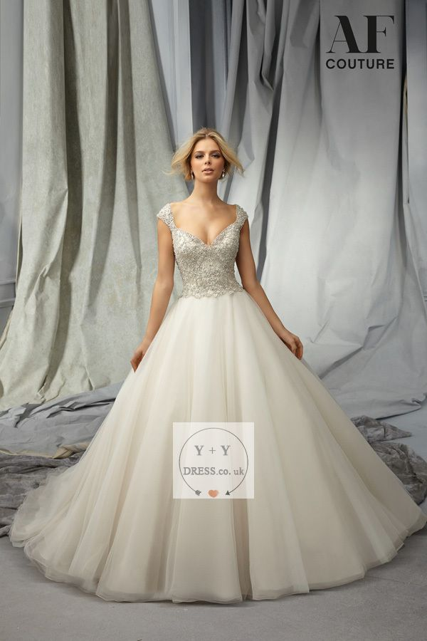 Buy Cheap 2015 Radiant Ball Gown V-Neck Short Sleeves Tulle Tulle with Beading Chapel Train Backless Wedding Dresses