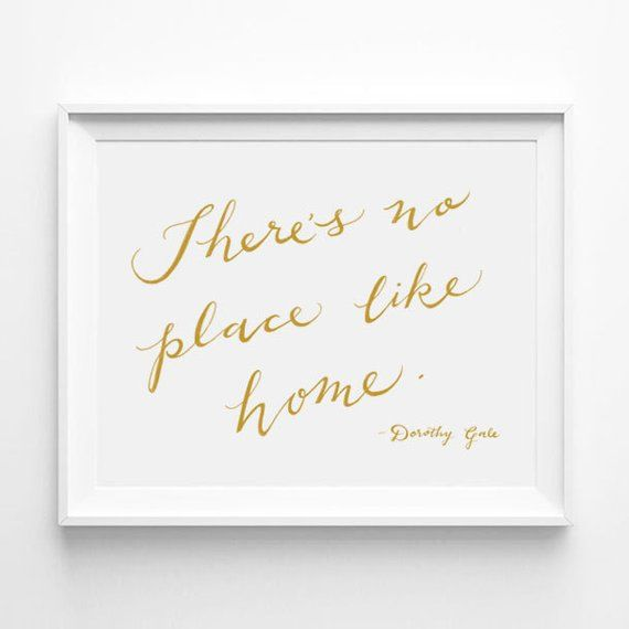 Copper foil Wizard of Oz quote print Somewhere over the rainbow Rose gold